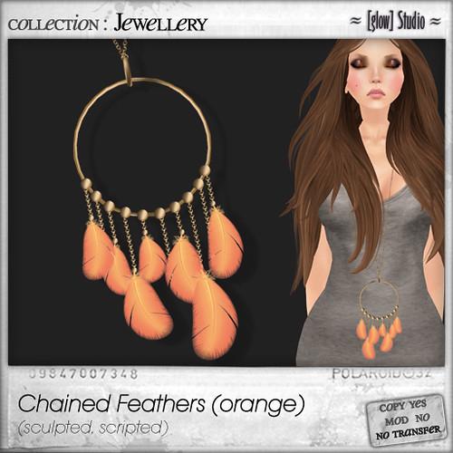 [ glow ] studio - Chained Feathers (orange)
