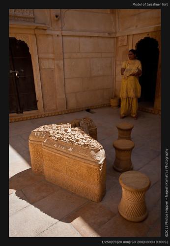Model of Jaisalmer fort