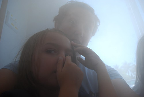 and then we sat in a smoky room and elliott wasn't pleased and clearly i was scary