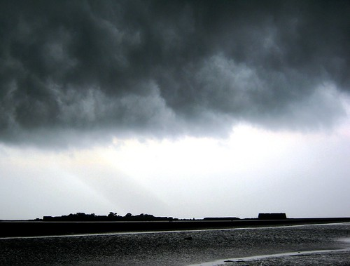 Storm brewing over Alibag Fort