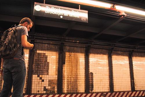 Subway encounter by alan.grabinsky