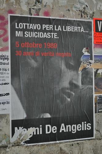 Manifesto a Piazza Vittorio