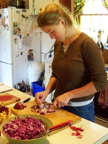 coleslaw chopping
