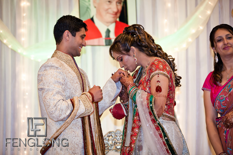 Bride Kissing Groom's Hands | Shamz & Sana's Wedding Day 3 | Zyka Indian Banquet Hall Decatur | Atlanta Indian Photographer