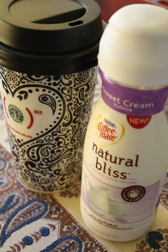 Coffee cup and Coffee Mate Natural Bliss