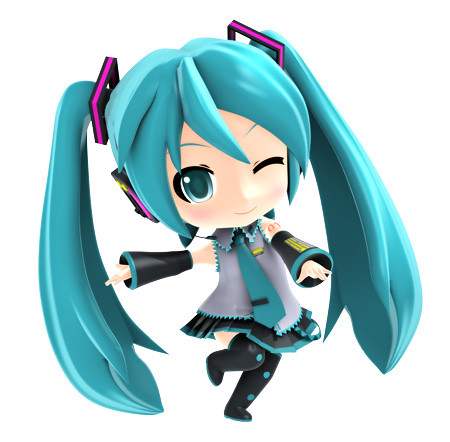 Nendoroid Hatsune Miku (rendered)