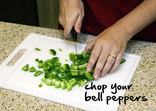chop your bell peppers