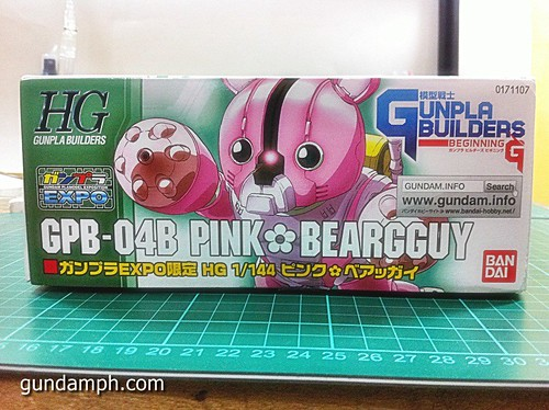 144 HG GB Pink Bearguy Gundam Expo Limited Edition (4)