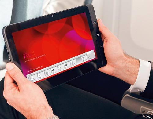 Virgin America's New Red screen