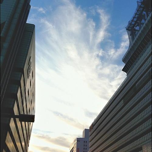 今日の空。 雲が印象的だね! #cloud #iphonography #instagram