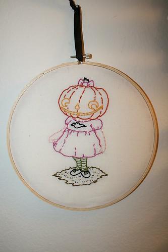 Pumpkin Girl Embroidery