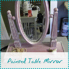 painted table mirror
