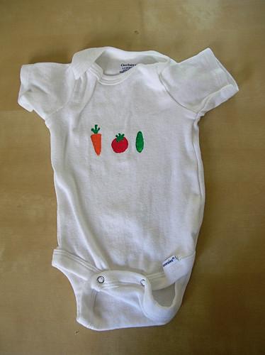 veggies onesie