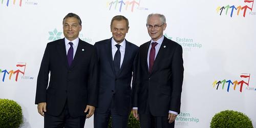 Polish Prime Minister Donald Tusk and Presiden...
