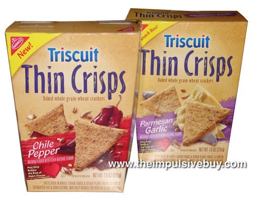 Triscuit Thin Crisps (Parmesan Garlic and Chile Pepper)