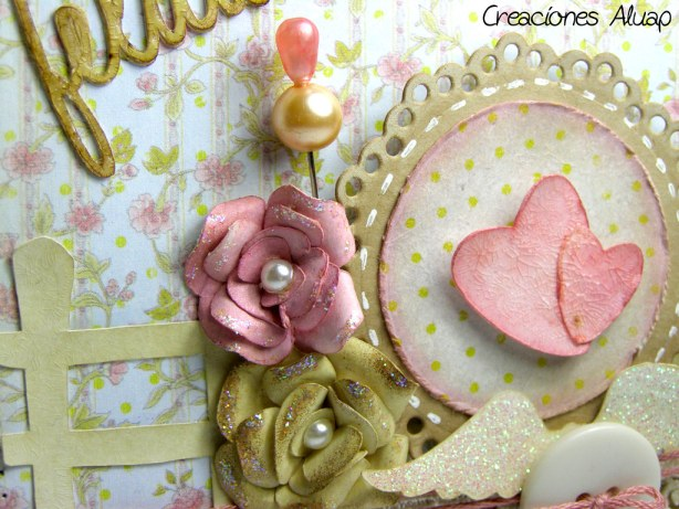 detalle tarjeta craquelado flores