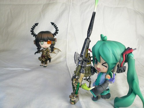Miku wanted to test Dead Buster's rifle