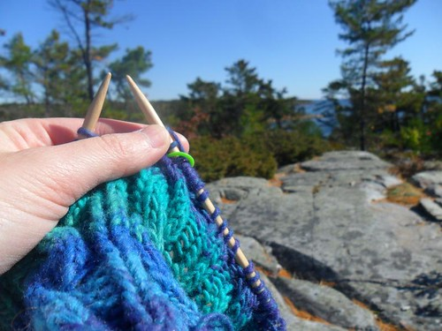 Knitting with a view
