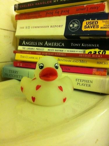 Our bathroom reading.