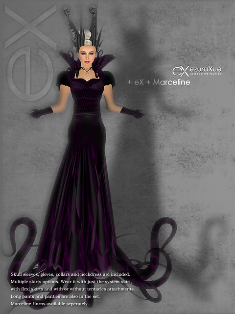 + eX + Marceline Goth Dress *Purple