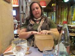 Diana at some Parisian Cafe