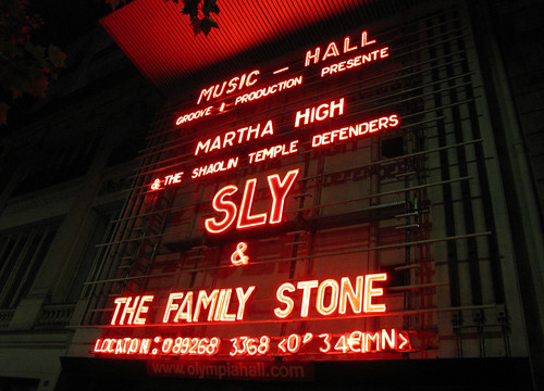Sly Stone at the Olympia in Paris