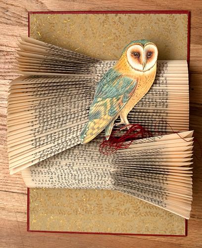 Altered Books Barn Owl