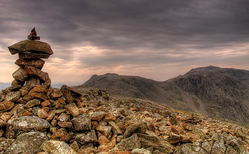 Looking to the Scafells from Great End