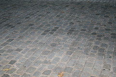 Cobblestone streets still in use.