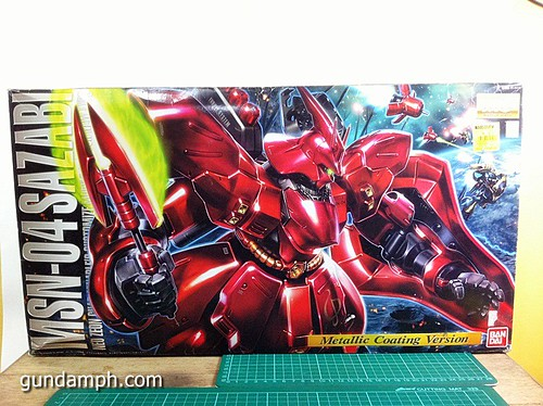 MG Sazabi Metallic Coating (Titanium-Like Finish) (1)