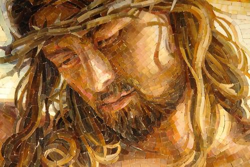 "Detail of Mia Tavonatti's ""Crucifixion"" at the DeVos Place"