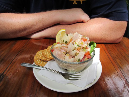 ceviche with conch