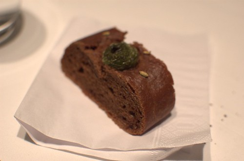 Cacao and olive bread