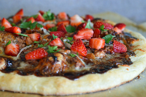 Image result for strawberry balsamic pizza
