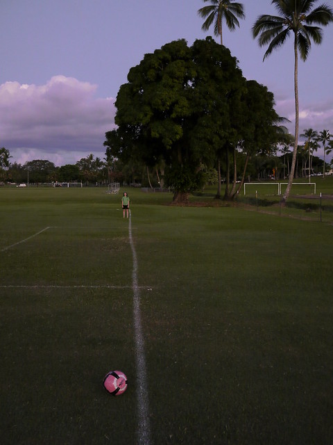 Twilight at the Football Fields