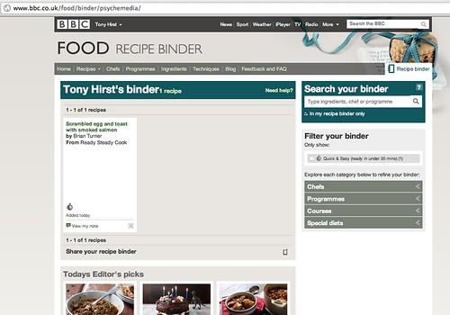 BBC Food Recipe Binder