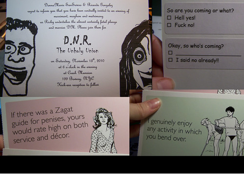The invitations (a.k.a. The Only Collage Pic…I promise!)