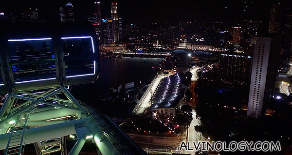 At the highest vantage point of the Singapore Flyer