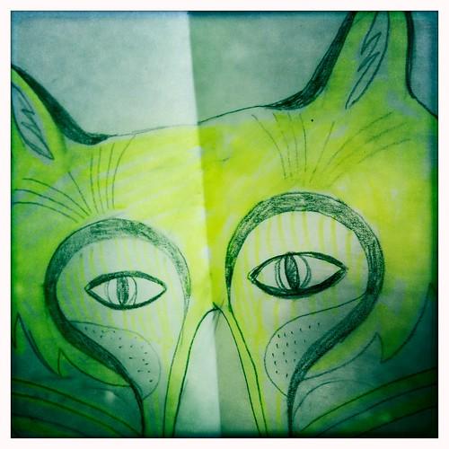 fox - sketch - 1st color