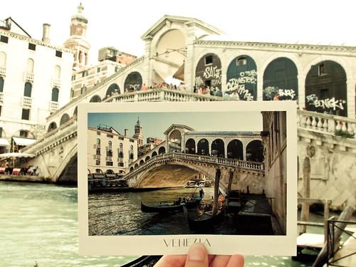Postal de una postal - Puente Rialto - Venecia