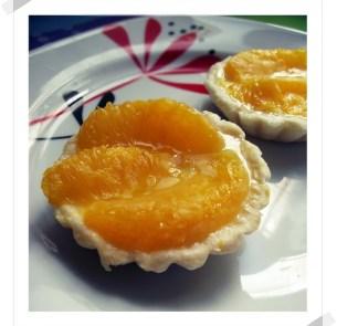 Tartaletas de Naranja con Base de Queso