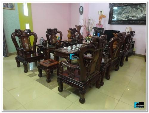 Bộ ghế mỹ nghệ cao cấp gỗ cẩm lai 14 món. Hàng hiếm by bietthusaigon.vn