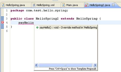 8 - override sayHello