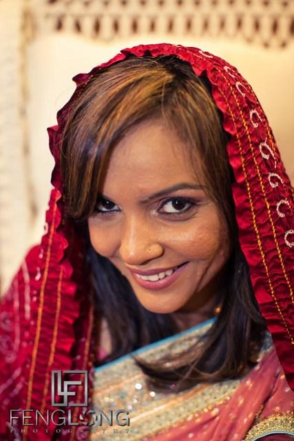Bride in Sari | Shamz & Sana's Wedding Day 2 | Hyatt Place Atlanta Airport South | Atlanta Indian Photographer