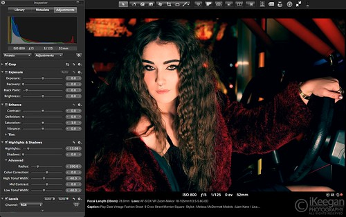 Screen Shot / Aperture Workflow / 2nd Edit by Ian Keegan