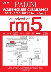 Padini warehouse sales