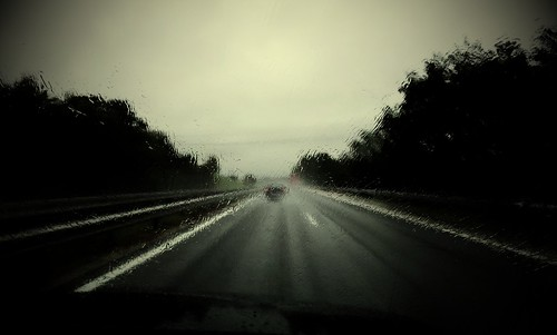 Rainy day on a motorway.. by Theyweed GREEN