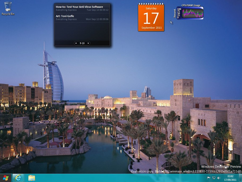 Windows 8 Developer Preview Desktop