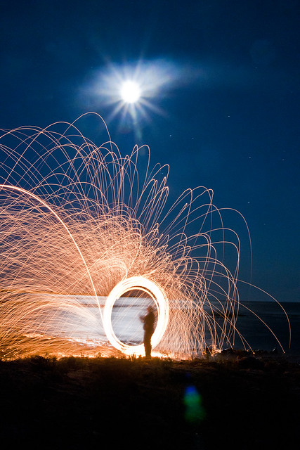 You can see the strong winds were blowing the sparks off to the right of the image.