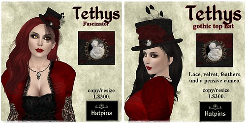 Hatpins - Tethys Fascinator and Top Hat